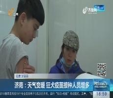 济南:天气变暖 狂犬疫苗接种人员增多