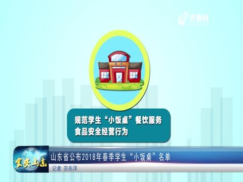 """山东省公布2018年春季学生""""小饭桌""""名单"""