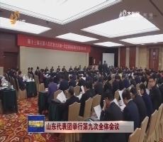 【直通全國兩會】山東代表團舉行第九次全體會議