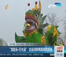 """枣庄:""""龙抬头·行大运"""" 古运河畔再现传统民俗"""