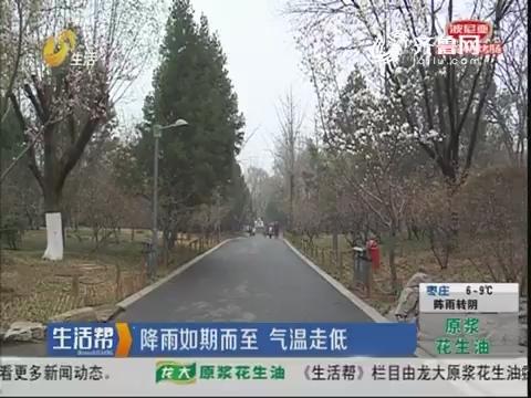 济南:降雨如期而至 气温走低