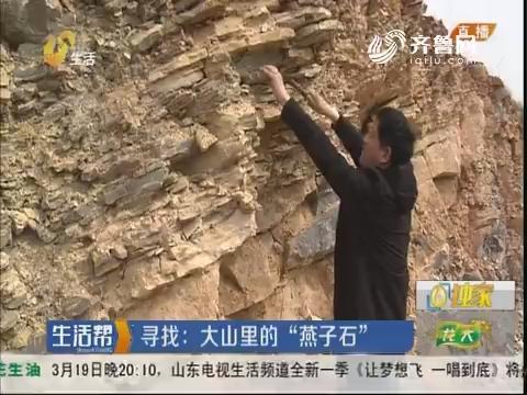 """莱芜:寻找 大山里的""""燕子石"""""""