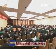 最新消息:山东代表团举行第十三次全体会议