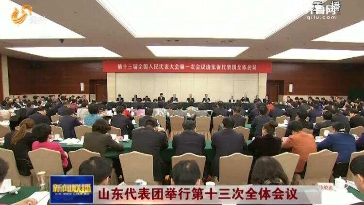 山東代表團舉行第十三次全體會議