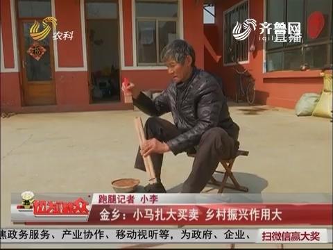 【群众新闻】金乡:小马扎大买卖 乡村振兴作用大