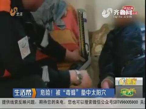 """青岛:紧急!男子被""""毒蜂""""蛰休克"""