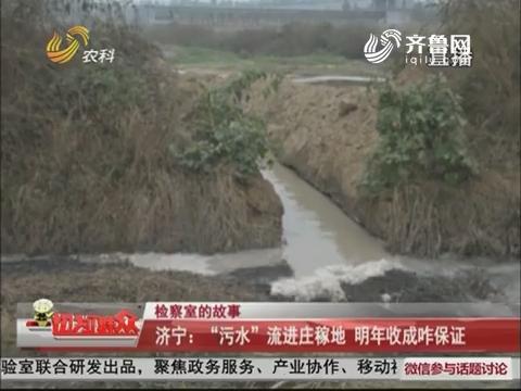 """【检察室的故事】济宁:""""污水""""流进庄稼地 明年收成咋保证"""