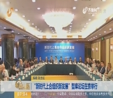 """""""新时代上合组织新发展""""智库论坛在京举行"""