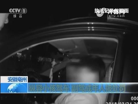 安徽亳州 纵容小孩驾车 副驾成年人被处罚