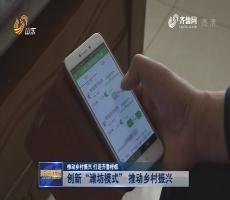 """【推动乡村振兴 打造齐鲁样板】创新""""潍坊模式"""" 推动乡村振兴"""