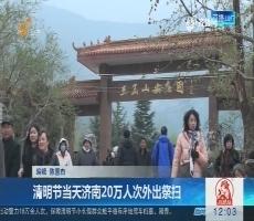 清明节当天济南20万人次外出祭扫
