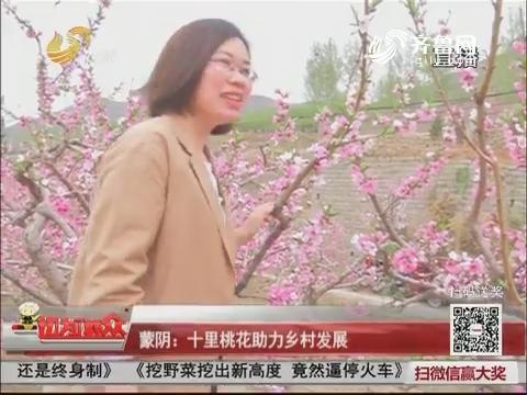 蒙阴:十里桃花助力乡村发展