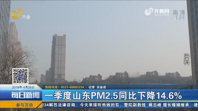 一季度山东PM2.5同比下降14.6%