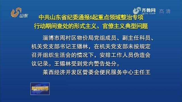 中共山东省纪委通报6起重点领域整治专项行动期间查处的形式主义、官僚主义典型问题