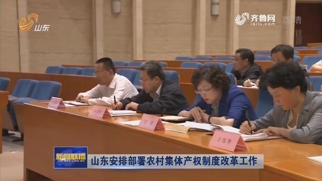 山东安排部署农村集体产权制度改革工作