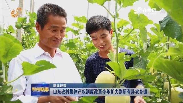【新闻链接】山东农村集体产权制度改革今年扩大到所有涉农乡镇