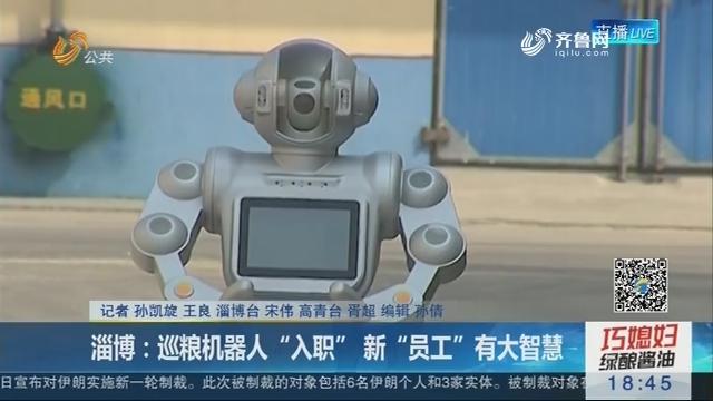 """淄博:巡粮机器人""""入职"""" 新""""员工""""有大智慧"""