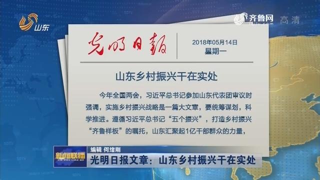 光明日报文章:山东乡村振兴干在实处