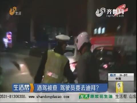潍坊:酒驾被查 驾驶员要去迪拜?