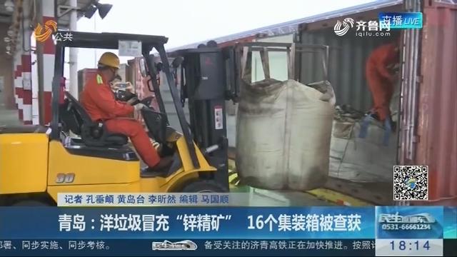 """青岛:洋垃圾冒充""""锌精矿"""" 16个集装箱被查获"""