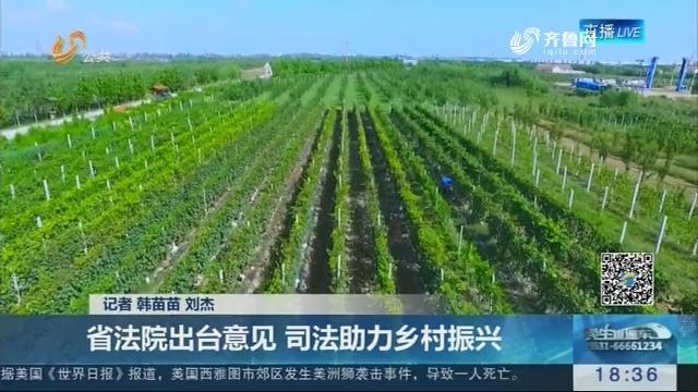 【权威发布】省法院出台意见 司法助力乡村振兴