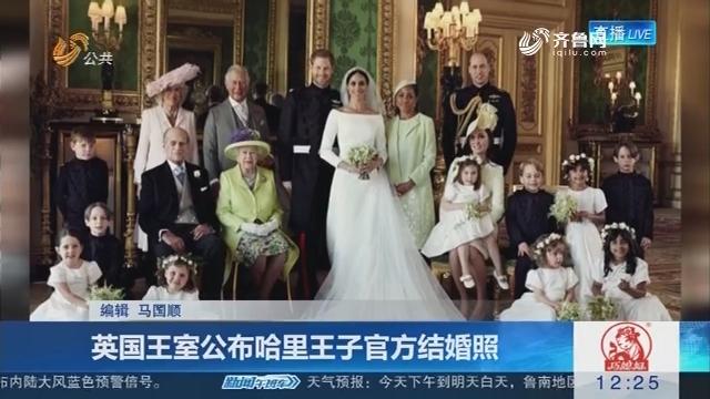 英国王室公布哈里王子官方结婚照