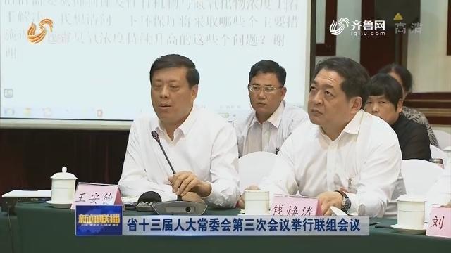 省十三届人大常委会第三次会议举行联组会议