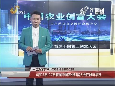 6月16日-17日首届中国农业创富大会在潍坊举行
