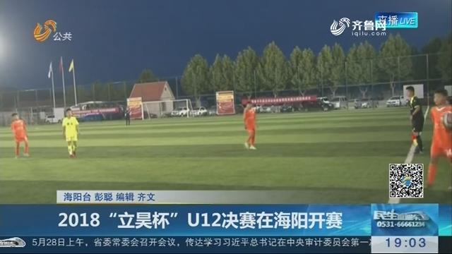 """2018""""立昊杯""""U12决赛在海阳开赛"""