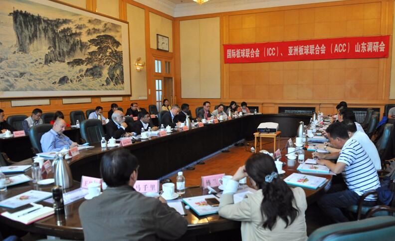 国际和亚洲板联中国考察团来到山东