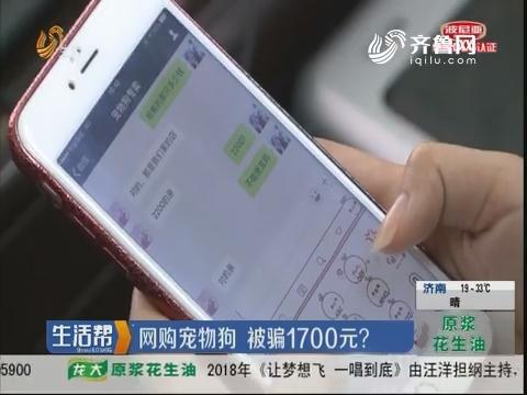 烟台:网购宠物狗 被骗1700元?
