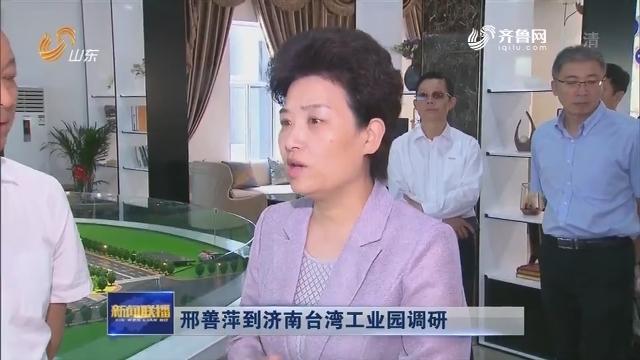 邢善萍到济南台湾工业园调研