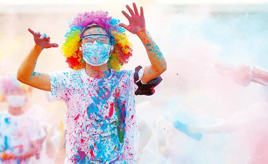 定陶:大型公益彩色跑活力开跑