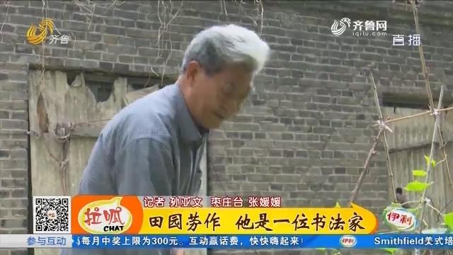 枣庄:田园劳作 他是一位书法家