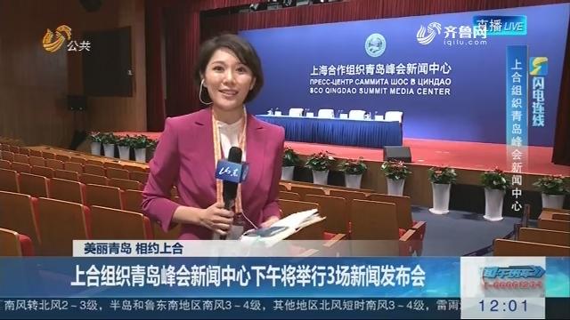 【闪电连线】美丽青岛 相约上合:上合组织青岛峰会新闻中心下午将举行3场新闻发布会