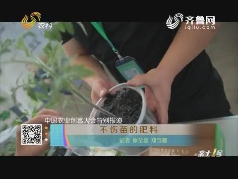 【中国农业创富大会特别报道】不伤苗的肥料