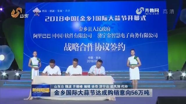 【推动乡村振兴 打造齐鲁样板】金乡国际大蒜节达成购销意向56万吨