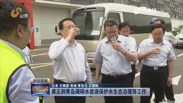 龔正到青島調研水資源保護水生態治理等工作