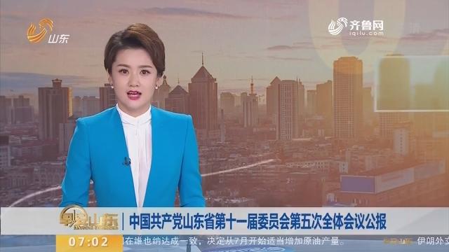 中国共产党山东省第十一届委员会第五次全体会议公报