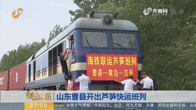 【闪电新闻排行榜】山东曹县开出芦笋快运班列