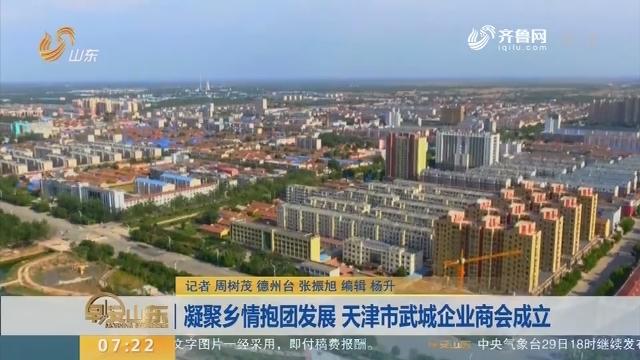 凝聚乡情抱团发展 天津市武城企业商会成立