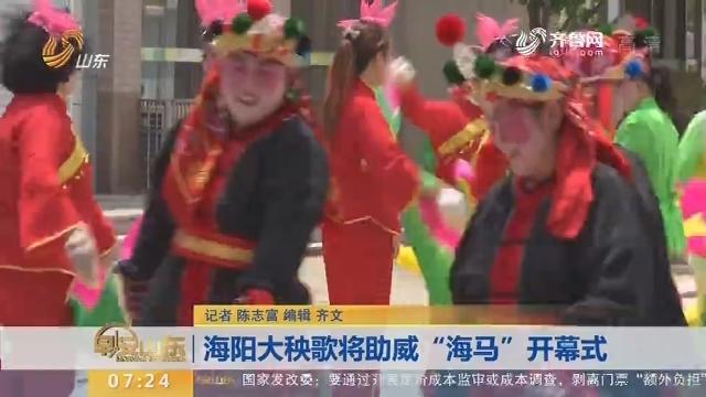 """海阳大秧歌将助威""""海马""""开幕式"""