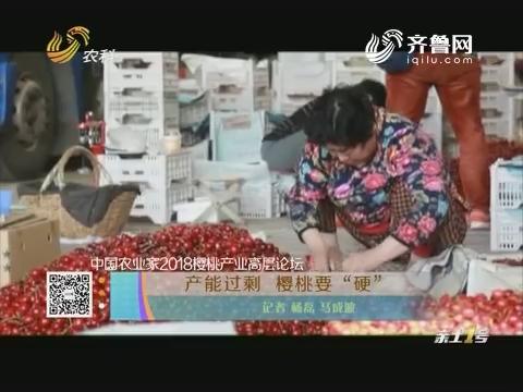 """【中国农业家2018樱桃产业高层论坛】产能过剩 樱桃要""""硬"""""""
