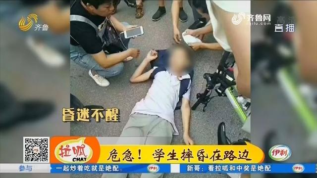 【凡人善举】淄博:危急!学生摔昏在路边