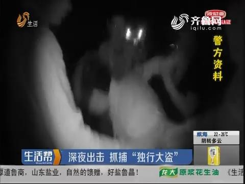"""临沂:深夜出击 抓捕""""独行大盗"""""""