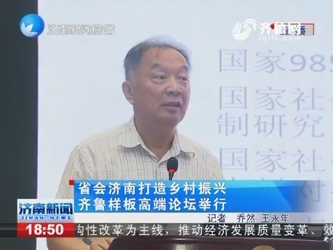 省会济南打造乡村振兴齐鲁样板高端论坛举行