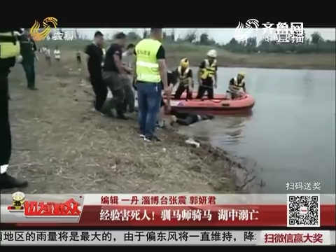 淄博:经验害死人!驯马师骑马 湖中溺亡