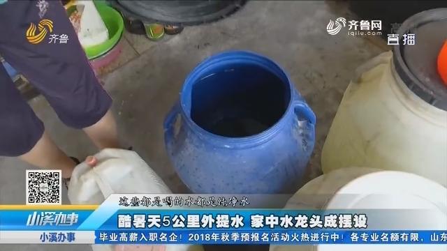 临邑:酷暑天5公里外提水 家中水龙头成摆设