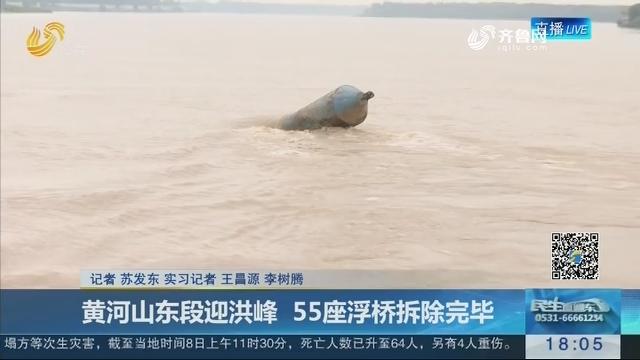 黄河山东段迎洪峰 55座浮桥拆除完毕