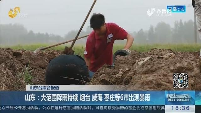 【海丽气象吧】山东:大范围降雨持续 烟台 威海 枣庄等6市出现暴雨
